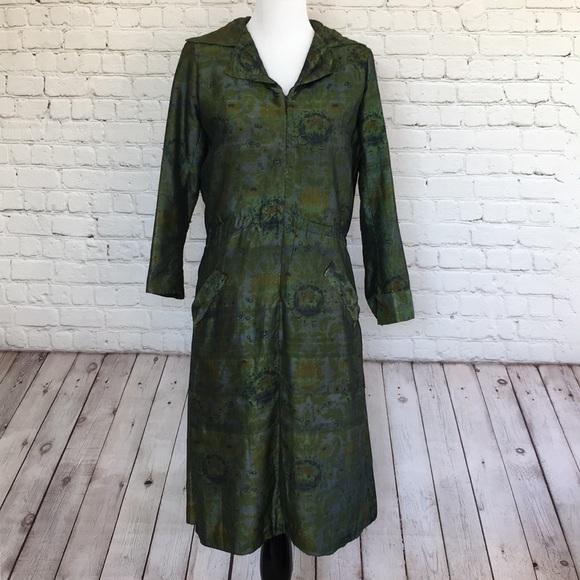 Vintage Dresses & Skirts - Vintage Green Floral Dress
